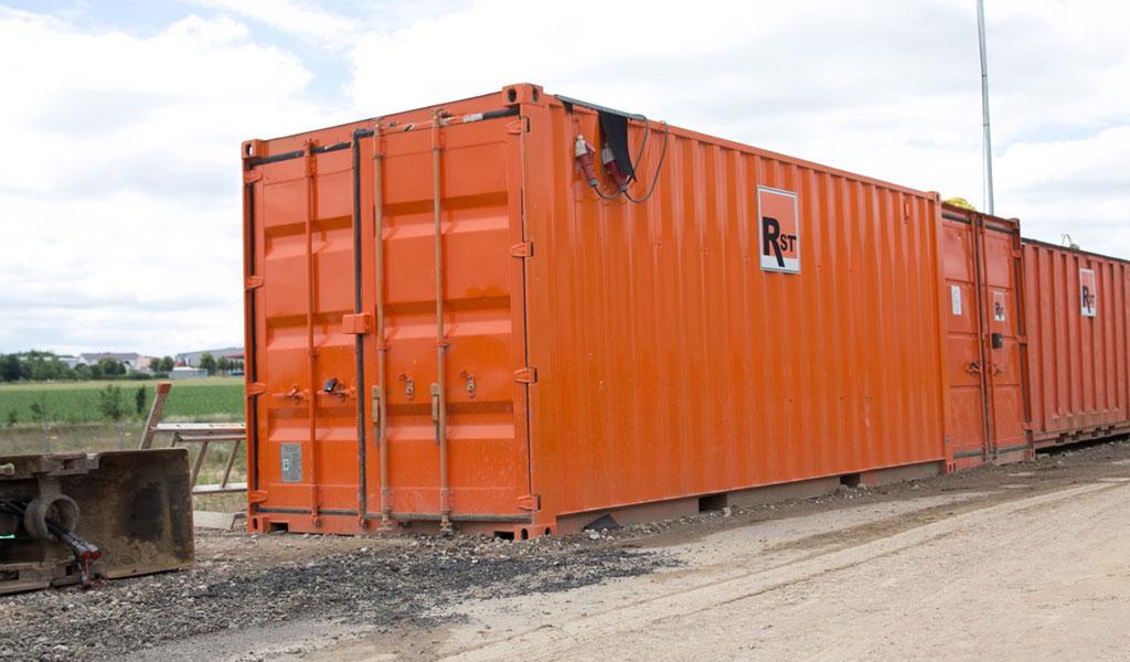 rst-bau Maschinenpark - Container