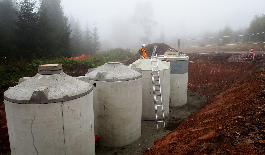 Windpark Hausfirste Betonbau