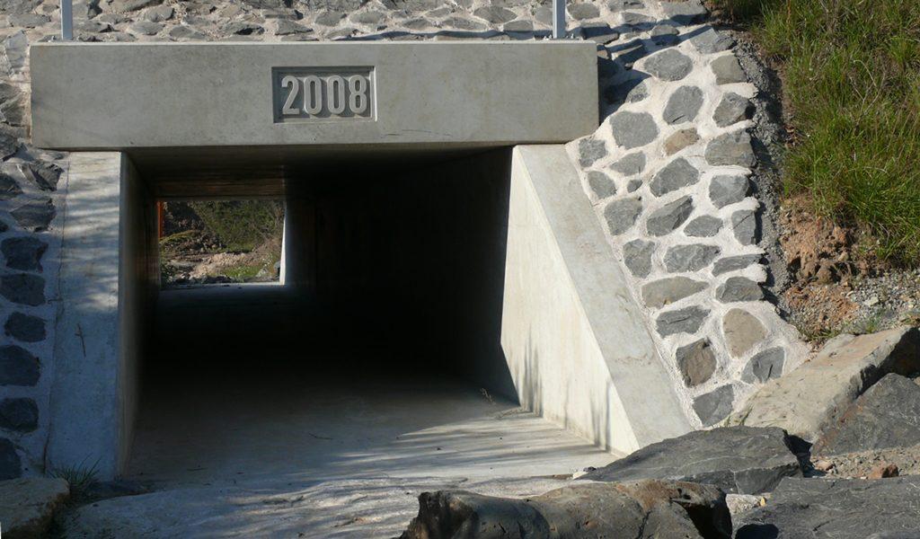 Betonbau-Durchlass
