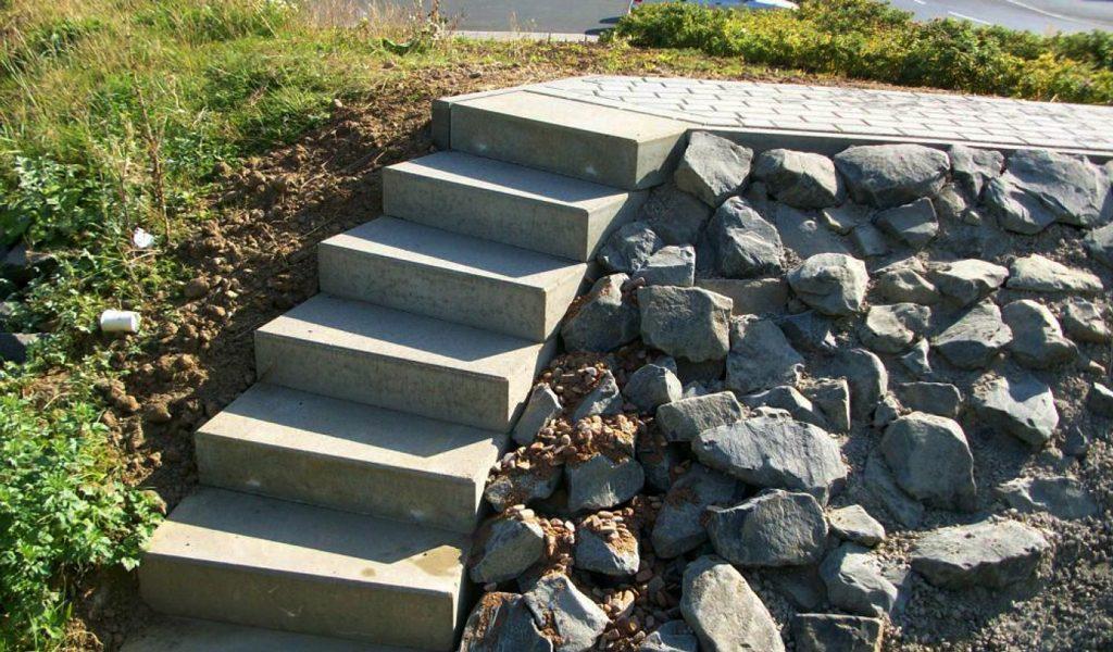 Betonbau-Treppe