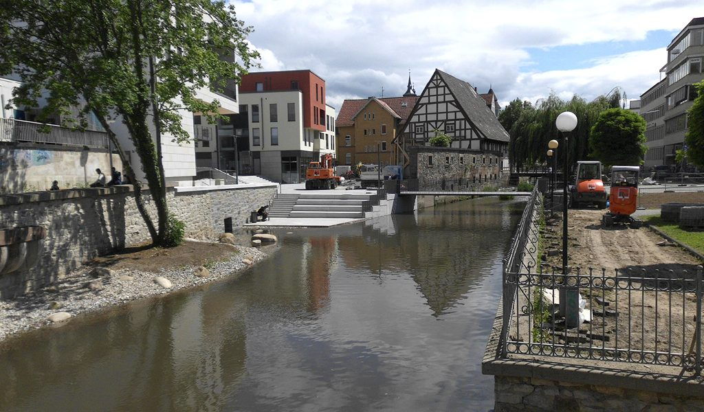 Betonbau Leine-Quartier Göttingen